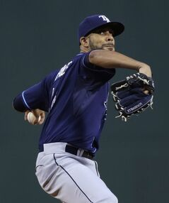 Tampa Bay Rays starting pitcher David Price delivers against the Boston Red Sox during the first inning of a baseball game at Fenway Park in Boston, Friday, May 30, 2014. (AP Photo/Charles Krupa)
