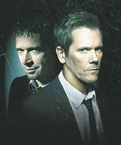 Bacon, right, with James Purefoy, his co-star on The Following.