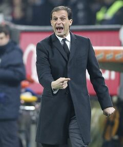 FILE - In this file photo take in Milan on Dec. 16, 2013, AC Milan former coach Massimiliano Allegri gestures during the Serie A soccer match between AC Milan and Roma. Massimiliano Allegri has been hired to coach Italian champion Juventus a day after Antonio Conte unexpectedly left the club. The 46-year-old Allegri was fired by Milan in January after 3 1/2 seasons with the squad, having led the Rossoneri to the Serie A title in his first year in charge in 2010-11.The 46-year-old Allegri was fired by Milan in January after 3 1/2 seasons with the squad, having led the Rossoneri to the Serie A title in his first year in charge in 2010-11. (AP Photo/Antonio Calanni)