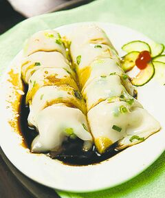 Hong kong steamed rice rolls at Kam Ho.