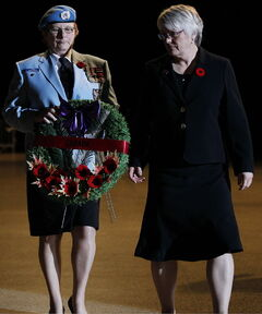Manitoba Sen. JoAnne Buth (right) is leaving the upper chamber after only two years.
