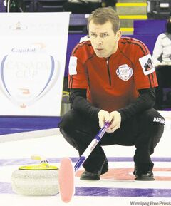 Jeff Stoughton (above) and Mike McEwen  are the best teams entered in the 2012 Safeway Championship to determine Manitoba's representative at the Brier and will most likely be playing for all the marbles come Sunday.