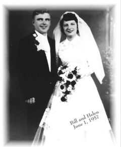 Bill and Helen Gregorchuk on their wedding day in 1957.