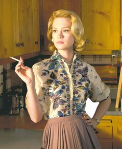 January Jones, as Betty Draper in Mad Men.