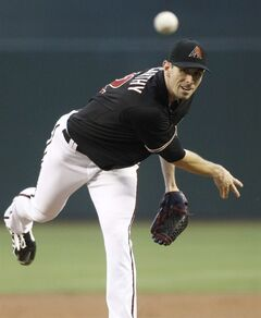 Arizona Diamondbacks' Brandon McCarthy delivers a pitch against the Cincinnati Reds' during the first inning of a baseball game on Saturday, May 31, 2014, in Phoenix. (AP Photo/Ralph Freso)