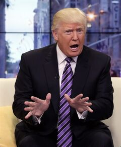 FILE - In this Sept. 16, 2013 file photo, Donald Trump appears on the