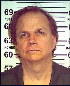 FILE - This May 15, 2012 file photo provided by the New York State De partment of Corrections shows Mark David Chapman at the Wende Correctional Facility in Alden, N.Y. Four letters from John Lennon's killer to the New York police officer who arrested him are on sale through a Los Angeles auction house. Gary Zimet, owner Moments in Time, said the letters from Mark David Chapman to Stephen Spiro are for sale starting Monday, Feb. 18, 2013 for a fixed price of $75,000. Zimet says he is selling the letters on behalf of Spiro, who arrested Chapman on Dec. 8, 1980, shortly after Lennon was shot outside his Manhattan building. (AP Photo/New York State Department of Corrections, File)