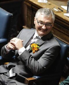 Finance Minister Stan Struthers unveiled his first budget Tuesday at the legislature.