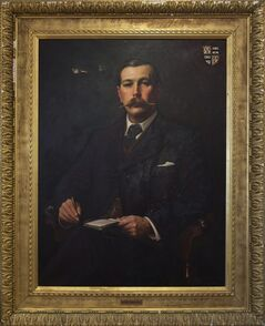 This image made available by the Museum of London shows an oil painting of a portrait of Sir Arthur Conan Doyle, 1897, by Sidney Paget. The Museum of London on Tuesday May 20, 2014 announced an exhibition devoted entirely to the detective, from Arthur Conan Doyle's hand-written manuscripts to the coat worn by Benedict Cumberbatch in the BBC series