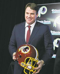 Jay Gruden is introduced as the new head coach of the Washington Redskins on Thursday.