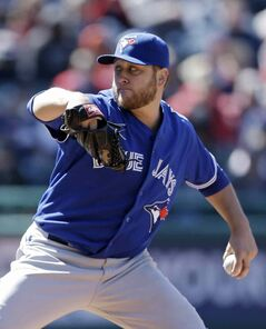 Toronto Blue Jays lefty Mark Buehrle took it slow and easy Saturday and moved to 4-0.