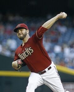 Arizona Diamondbacks' Wade Miley throws a pitch against the Milwaukee Brewers during the second inning of a baseball game on Wednesday, June 18, 2014, in Phoenix. (AP Photo/Ralph Freso)