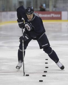 Big free-agent addition to the Winnipeg Jets, Olli Jokinen was on the ice for a skate at the MTS Iceplex Thursday.