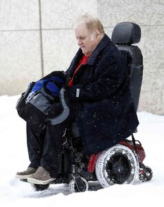 David Thorarinson leaves court Friday after testifying at an inquest into the death of fellow resident Frank Alexander.