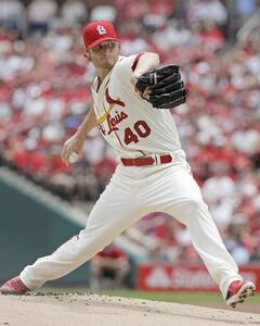 St. Louis Cardinals starting pitcher Shelby Miller delivers a pitch in the first inning of a baseball game against the Miami Marlins, Saturday, July 5, 2014 in St. Louis.(AP Photo/Tom Gannam)