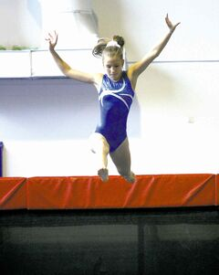 Rebecca Wilson Abreu, 12, a member of the Panthers Gymnastics Club, recently represented Winnipeg Blue at the 2014 Manitoba Winter Games.