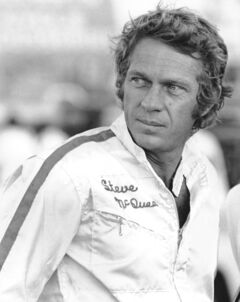 Steve McQueen at the racetrack