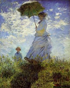 Mme Monet and Her Son (1875), Claude Monet
