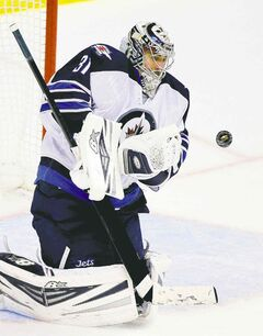 Winnipeg goalie Ondrej Pavelec was stellar as he backstopped the Jets to a heart-stopping win in Anaheim Tuesday.