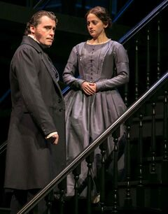 Jennifer Dzialoszynski stars as Jane Eyre along side Tim Campbell as Edward Rochester in the stage adaptation of Charlotte Brontë's celebrated novel Jane Eyre. The play, adapted by Julie Beckman, runs Jan. 9 to Feb. 1 at John Hirsch Mainstage