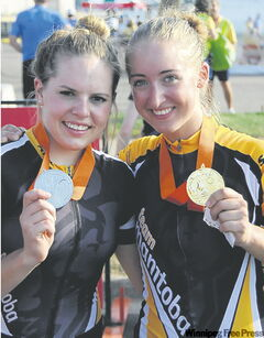 Karlee Gendron (left) took silver while Leah Kirchmann struck gold.