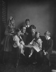 This June 12, 1919 photo provided by PBS shows Franklin and Eleanor Roosevelt with their children in Washington. PBS announced Thursday, May 8, 2014, its fall season will open with the seven-part Ken Burns' documentary,