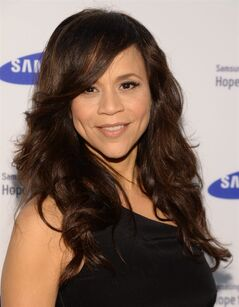 FILE - In this June 10, 2014 file photo, Rosie Perez arrives at the Samsung Hope for Children Gala 2014 in New York. Perez and Republican media operative Nicolle Wallace are joining ABC's daytime chat show,