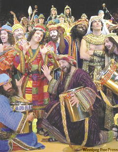 The cast of the Chanhassen Dinner Theatre's production of Joseph and the Amazing Techniclor Dreamcoat.