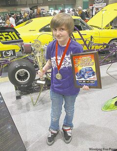 Justin Wruck took home best in class honours for his speedy JR Dragster.
