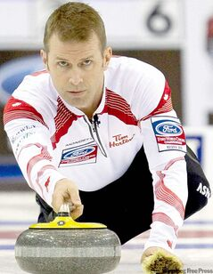 Jeff Stoughton was as good as gold at the world men's curling championship, but that hasn't helped him land a major sponsor for his team.