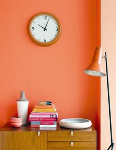 A fresh coat of paint like this soothing oriental coral orange from CIL can do wonders for both the home and the psyche.