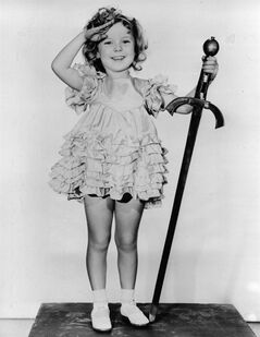 FILE - In this 1933 file photo, child actress Shirley Temple is seen in her role as