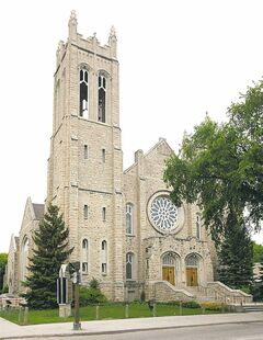 The century-old Westminster United Church.