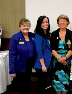East Kildonan resident Cat Ross (centre) received the Ruby Award at the Soroptimist Awards gala on April 13. She is seen flanked by Ruby Award committee chair Sally Thomas (left) and Soroptimist president Kay Stewart (right).