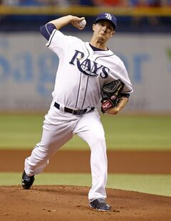 Tampa Bay Rays starting pitcher Jake Odorizzi throws during the first inning of a baseball game against the St. Louis Cardinals, Tuesday, June 10, 2014, in St. Petersburg, Fla. (AP Photo/Mike Carlson)