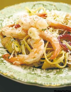 Zesty shrimp & pasta