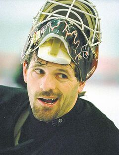 Ron Hextall: The assistant general manager as a young man.