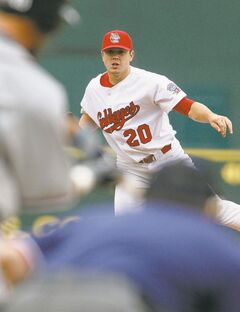 Goldeyes lefty Rich Hawkins.