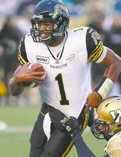 Tiger-Cats QB Henry Burris can be awesome or awful, depending on the day of the week. The Bombers are hoping for the bad Burris today.