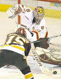 Juho Olkinuora has been impressive  as U of Denver�s default netminder.