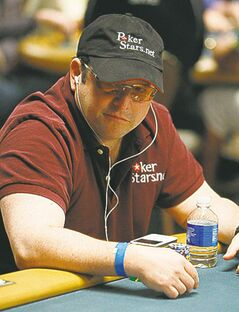 Jason Alexander plays in the main event during the World Series of Poker in 2008.