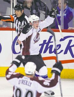 The Bad: Colorado's Matt Duchene celebrates his second goal of the night, putting a damper on the enthusiasm.