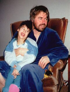 Robert Latimer and daughter Tracy are shown at home in an undated handout photo. Latimer was convicted of second-degree murder in 1997 and sentenced to life in prison with no chance at parole for 10 years in connection with Tracy's 1993 death.