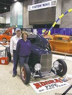 Paul and Bonnie Mohagen from North Dakota displayed their stunning 1932 Ford Roadster.