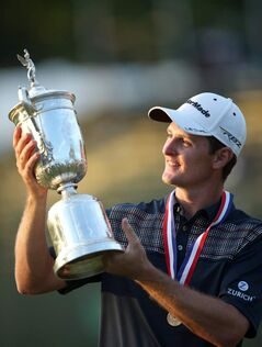 Justin Rose wins the U.S. Open golf tournament at Merion Golf Club's East Course in Ardmore, Pa., Sunday, June 16, 2013.