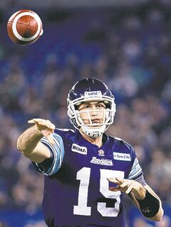 Argonauts quarterback Ricky Ray provides leadership under centre.