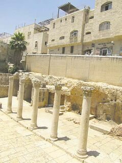 The Roman-era Cardo in Jerusalem's Jewish quarter.