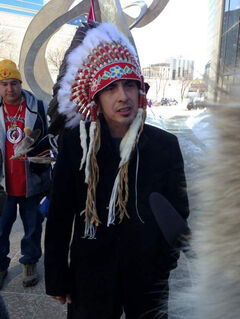 Mathias Colomb Cree Nation Chief Arlen Dumas