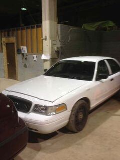 A 2009 Ford Crown Victoria the city is selling off.