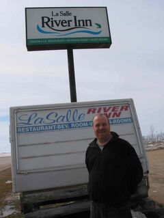 Drew Howard, owner of the La Salle River Inn, is planning mprovements to his business as the town grows.